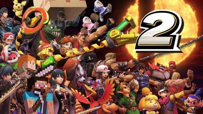 """Das Bild zeigt das Logo zum zweiten Jahrestag von """"Super Smash Bros. Ultimate""""."""