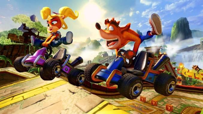 """Das Bild zeigt eine Szene in """"Crash Team Racing Nitro-Fueled""""."""