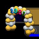 """Das Bild zeigt das Neujahr-Item """"2021-Festtagsbogen"""" in """"Animal Crossing: New Horizons""""."""