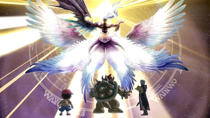 "Das Bild zeigt Sephiroth als One-Winged Angel in ""Super Smash Bros. Ultimate""."
