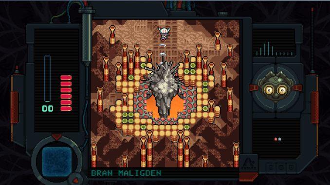 """Das Bild zeigt einen Dungeon in 2D aus """"Andoyne 2: Return to Dust"""""""