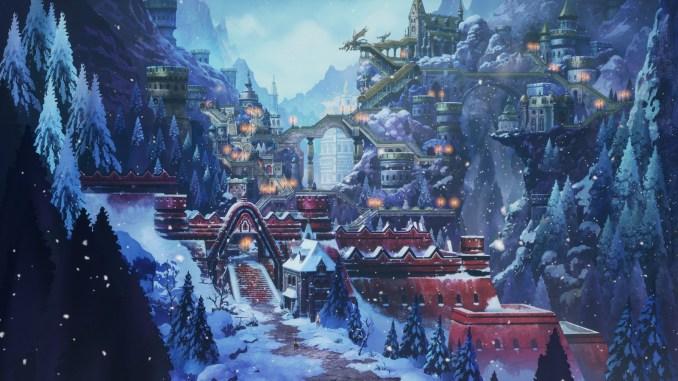 Zu sehen ist das schneebedeckte Tal Rimedahl