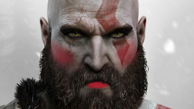"""Das Bild zeigt Kratos aus der """"Goods of War""""-Reihe mit etwas Make-Up als Parodie an das """"Animal Crossing"""" Make-Up."""