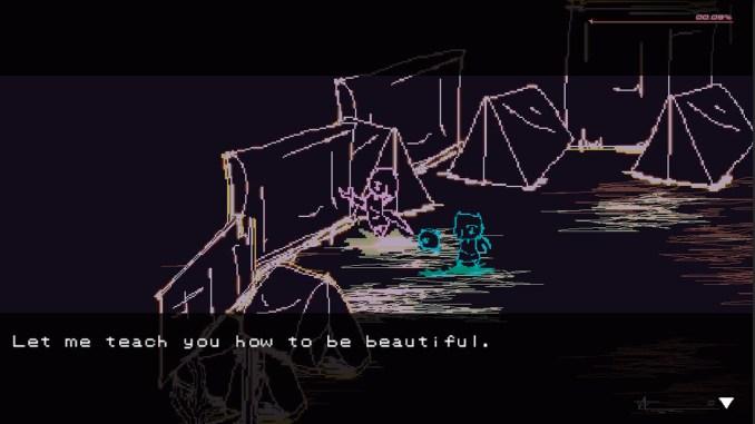 """Das Bild zeigt eine Szene aus dem Spiel """"Lucah: Born of a Dream""""."""