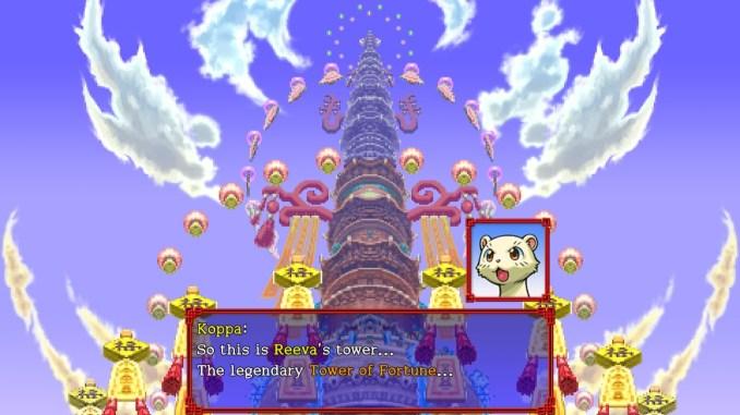 """Das Bild zeigt eine Suene aus dem Spiel """"Shiren the Wanderer: The Tower of Fortune and the Dice of Fate"""""""