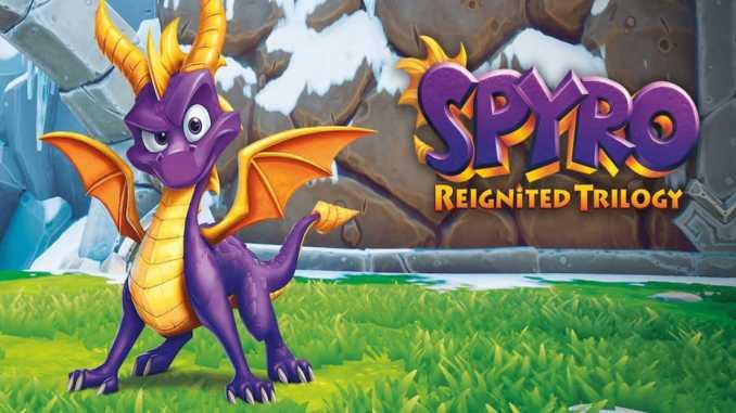 """Das Bild zeigt das Logo von der """"Spyro Reignited Trilogy"""", welche von Virtuos für die Nintendo Switch und andere Konsolen portiert worden ist."""