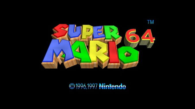 """Das Bild zeigt das Titelbild von """"Super Mario 64"""" in """"Super Mario 3D All-Stars""""."""