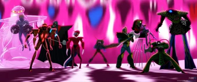 """Dieses Bild zeigt die Aliens aus """"No More Heroes 3""""."""