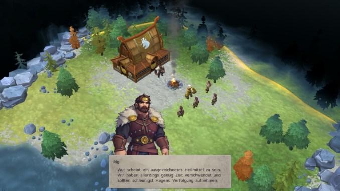 """Das Bild zeigt einen Dialog in """"Northgard""""."""