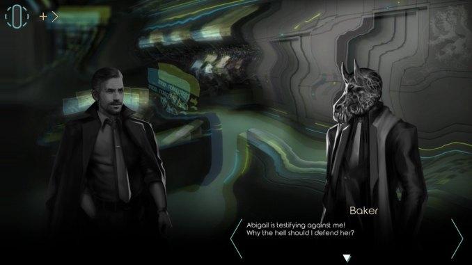"""Das Bild zeigt ein Gespräch mit einem Lügner als Monster in """"Dry Drowning""""."""