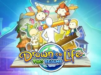 """Das Bild zeigt das Logo von """"Drawn to Life: Two Realms""""."""