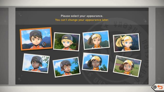 """Das Bild zeigt mögliche Charakteranpassungen in """"New Pokémon Snap""""."""
