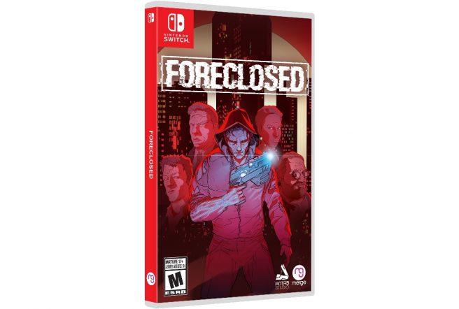 """Das Bild zeigt das Boxart von """"Foreclosed""""."""