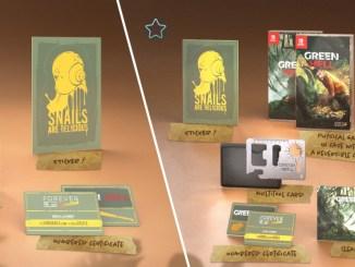 """Das Bild zeigt die physischen Versionen von """"Green Hell""""."""