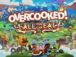 """Das Bild zeigt das Logo von """"Overcooked! All You Can Eat""""."""