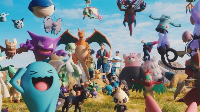 Das Bild zeigt ein Ausschnitt aus einem Werbevideo vom The Pokémon Company.