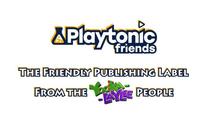 """Das Bild zeigt das Logo von """"Playtonic Friends""""."""