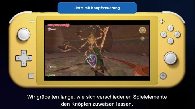 """Das Bild zeigt """"Skyward Sword HD"""" auf der Switch Lite."""