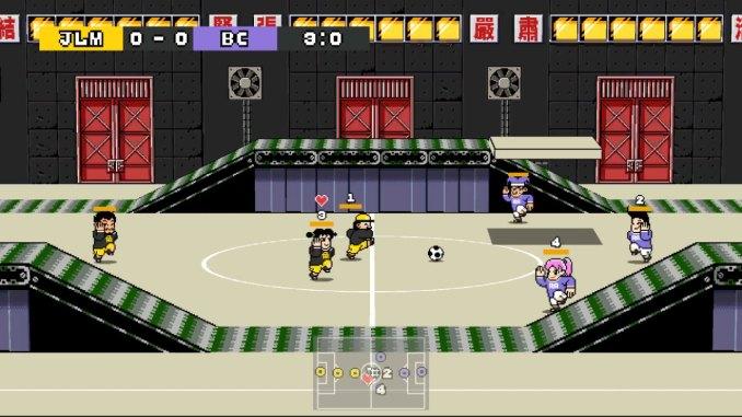 """Das Bild zeigt eine Szene aus dem Spiel """"Strange Field Football""""."""