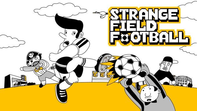 """Das Bild zeigt das Logo von """"Strange Field Football""""."""
