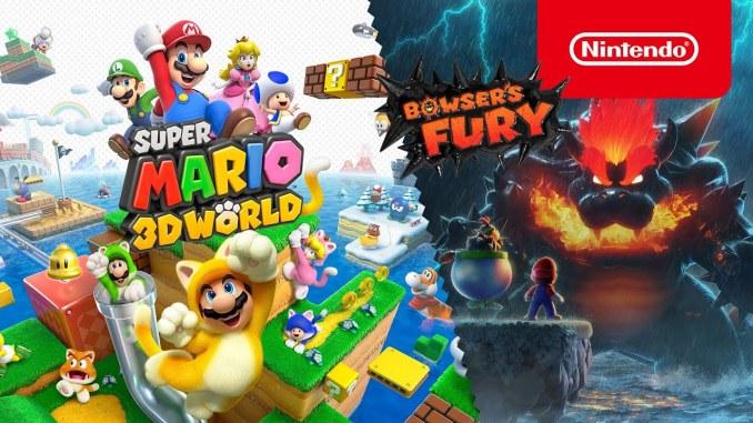 """Das Bild zeigt das Logo von """"Super Mario 3D World + Bowser's Fury""""."""