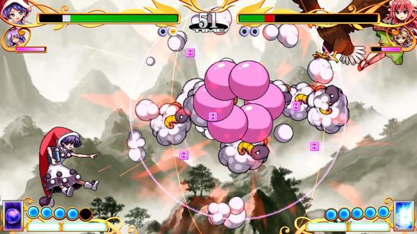 """Das BIld zeigt eine Szene aus dem Spiel """"Touhou Hyoibana: Antinomy Of Common Flowers""""."""