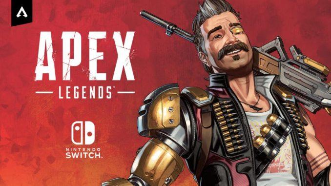 """Das Bild zeigt eine Legende von """"Apex Legends"""" neben dem Switch-Logo."""