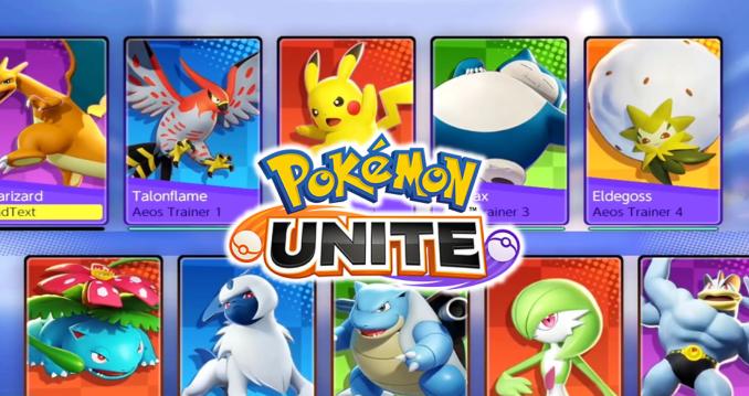 """Das Bild zeigt die geleakten spielbaren Taschenmonster in """"Pokémon Unite""""."""