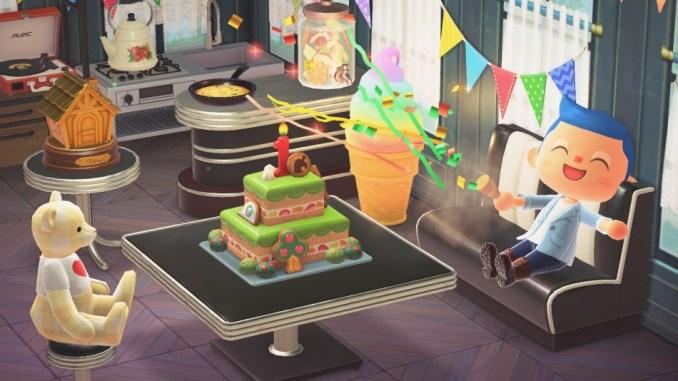 """Das Bild zeigt das Item zum 1. Jubiläum im neuen Update von """"Animal Crossing: New Horizons""""."""