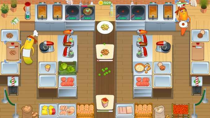 """Das Bild zeigt eine Szene aus dem Spiel """"Let's Cook Together""""."""