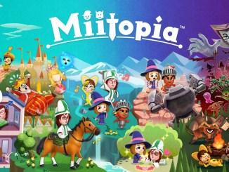"""Das Bild zeigt das Logo von """"Miitopia""""."""