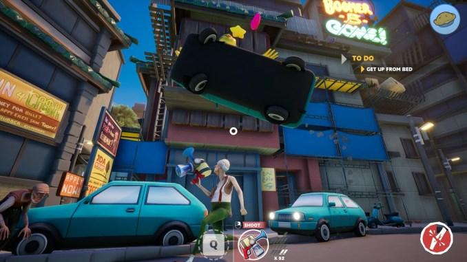 """Das Bild zeigt eine Szene aus dem Spiel """"Just Die Already""""."""