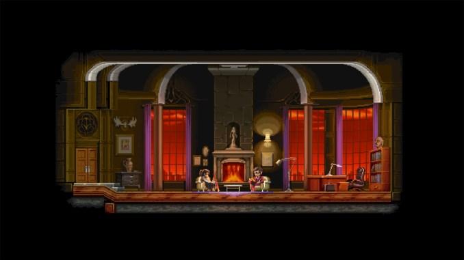 """Das Bild zeigt eine Szene aus dem Spiel """"Katana ZERO""""."""