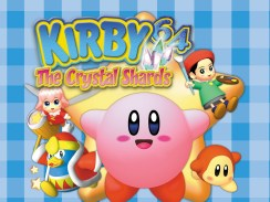 """Das Bild zeigt das Logo von """"Kirby 64: The Crystal Shards""""."""