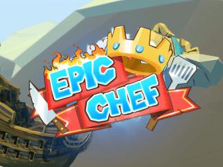 """Das Bild zeigt das Logo des Spieles """"Epic Chef""""."""