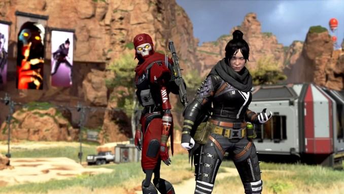 """Das Bild zeigt zwei Charaktere von """"Apex Legends""""."""