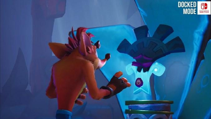 """Das Bild zeigt eine Zwischensequenz in """"Crash Bandicoot 4: It's About Time""""."""