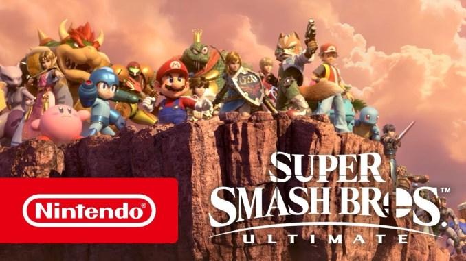 """Das Bild zeigt das Logo des Spiels """"Super Smash Bros. Ultimate""""."""