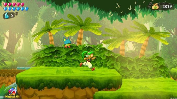"""Das Bild zeigt eine Szene aus dem Spiel """" Wonder Boy: Asha in Monster World""""."""