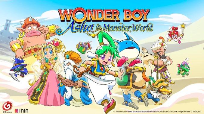 """Das Bild zeigt das Logo von """"Wonder Boy: Asha in Monster World""""."""