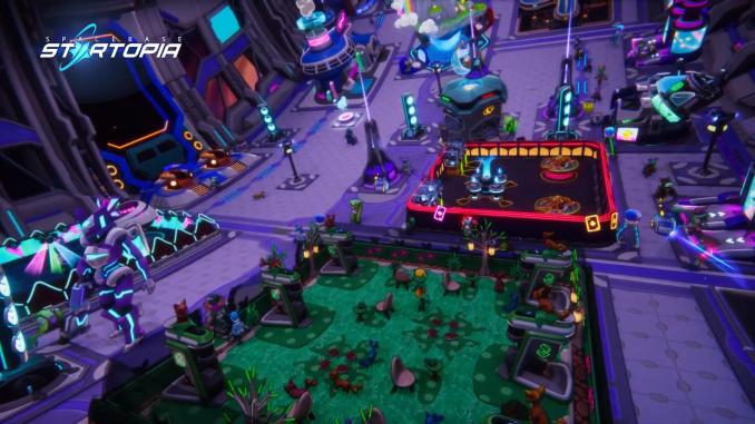 Das Bild zeigt das Fun-Deck aus Spacebase Startopia