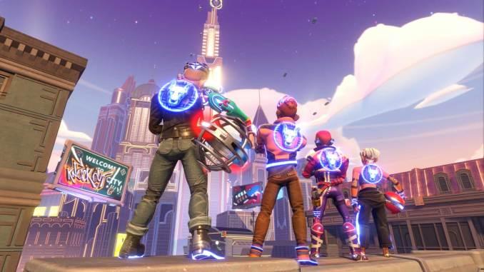 """Das Bild zeigt ein vierer Team aus dem Spiel """"Knockout City"""""""