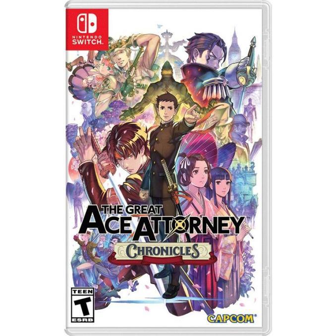"""Das Bild zeigt das Cover von """"The Great Ace Attorney Chronicles""""."""