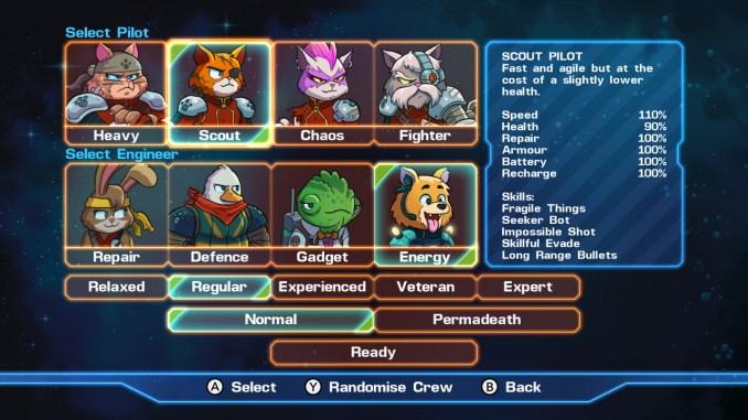 """Das Bild zeigt alle spielbaren Charaktere in dem Spiel """"ASTRO AQUA KITTY""""."""