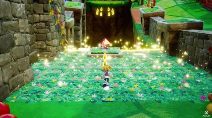 """Das Bild zeigt den Hauptprotagonisten in der 3D Spielwelt von """"Balan Wonderland""""."""