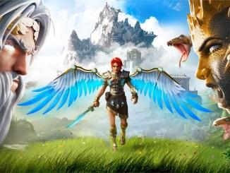 """Dass Bild zeigt ein Artwork zu dem Spiel """"Immortals Fenyx Rising""""."""