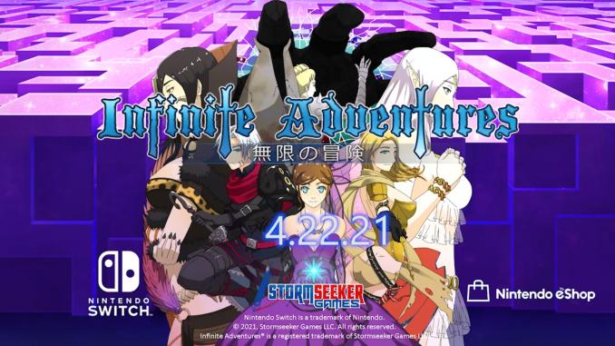 """Das Bild zeigt das Logo von """"Infinite Adventures""""."""