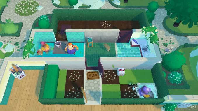 """Das Bild zeigt eine Szene aus dem neuen Garten-DLC von """"Tools Up!""""."""