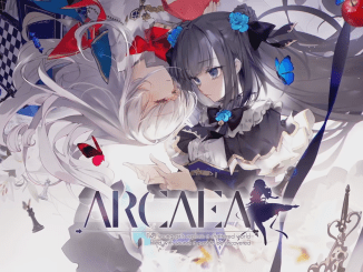 """Das Bild zeigt das Logo von """"Arcaea""""."""