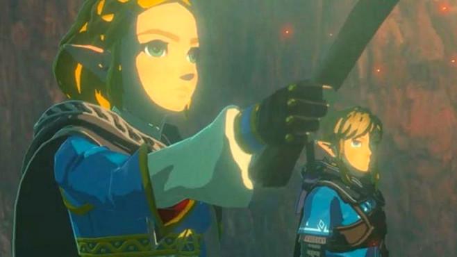 Das Bild zeig die Hauptcharaktere aus der Fortsetzung des Spiels Breath of the Wild.
